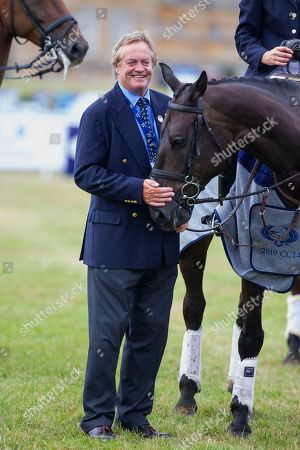 The Duke of Marlborough at the presentation ceremony at the end of the Ssangyong Blenheim Horse Trails.