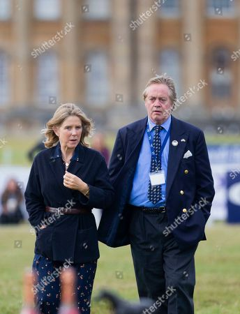 The Duke and The Duchess of Marlborough at the presentation ceremony at the end of the Ssangyong Blenheim Horse Trails.