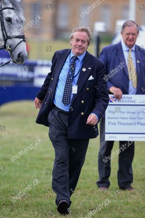 Stock Picture of The Duke of Marlborough at the presentation ceremony at the end of the Ssangyong Blenheim Horse Trails.