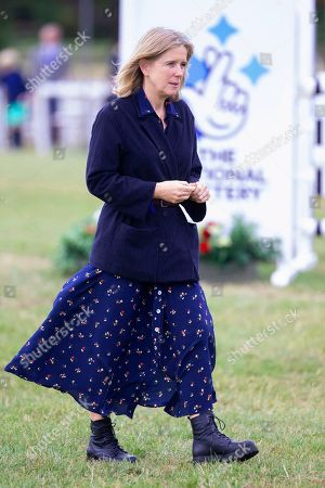 The Duchess of Marlborough at the presentation ceremony at the end of the Ssangyong Blenheim Horse Trails.