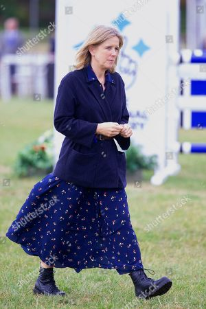 Stock Picture of The Duchess of Marlborough at the presentation ceremony at the end of the Ssangyong Blenheim Horse Trails.