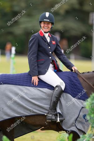 Piggy French after the presentation ceremony at the Ssangyong Blenheim Horse Trails.