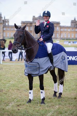 Stock Picture of Piggy French after the presentation ceremony at the Ssangyong Blenheim Horse Trails.