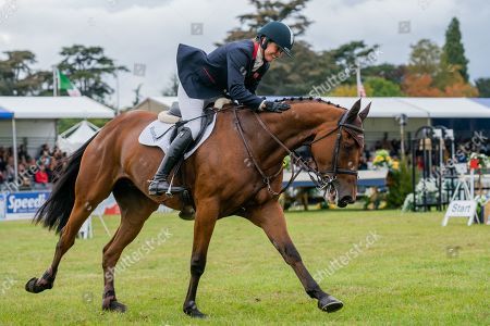Stock Photo of Piggy French wins on Brookfield Inocent. Competing in the Showjumping on Day 4 of Blenheim International Horse Trials.