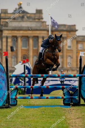 Zara Tindall on Watkins. Competing in the Showjumping on Day 4 of Blenheim International Horse Trials. Held at Blenheim Palace, Woodstock, Oxfordshire.