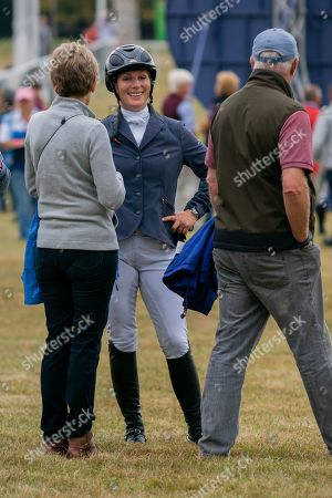 Stock Photo of Zara Tindall. After competing in the Showjumping on Day 4 of Blenheim International Horse Trials. Held at Blenheim Palace, Woodstock, Oxfordshire.