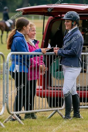 Zara Tindall. After competing in the Showjumping on Day 4 of Blenheim International Horse Trials. Held at Blenheim Palace, Woodstock, Oxfordshire.