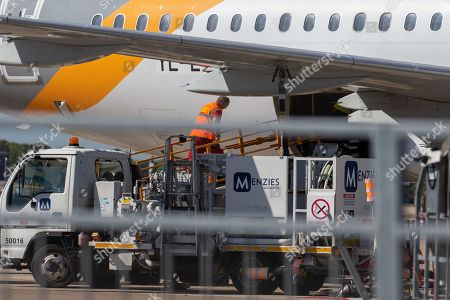 Thomas Cook plane being loaded  at Stansted Airport on Saturday afternoon.It could be one of the last flights for the company who could fall into administration this weekend. Tour operator Thomas Cook has approached the government in an attempt to plug a gap in its funding. The travel company could fall into administration this weekend unless it finds £200m in extra funds needed to secure its future. A collapse would leave 150,000 UK holidaymakers stranded.