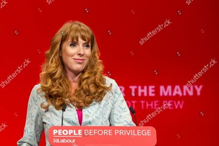 Shadow Education Secretary and MP for Ashton-Under-Lyne Angela Rayner speech at the 2019 Labour Party Conference in Brighton and Hove.