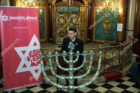 Stock Image of Alex Sobel speech at a fringe event by the Jewish Labour Movement at middle Street Brighton Synagogue, during the second day of the 2019 Labour Party Conference