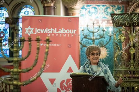 Margaret Hodge speech at a fringe event by the Jewish Labour Movement at middle Street Brighton Synagogue, during the second day of the 2019 Labour Party Conference