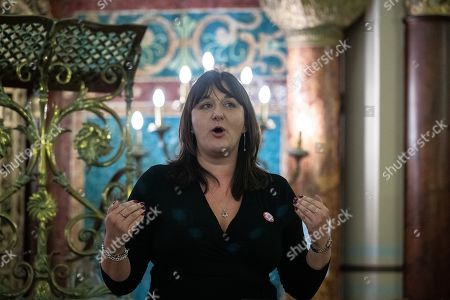 Ruth Smeeth speech at a fringe event by the Jewish Labour Movement at middle Street Brighton Synagogue, during the second day of the 2019 Labour Party Conference