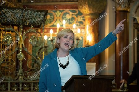 Stella Creasy speech at a fringe event by the Jewish Labour Movement at middle Street Brighton Synagogue, during the second day of the 2019 Labour Party Conference
