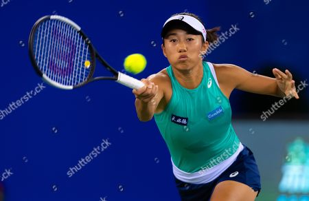 Stock Picture of Zhang Shuai of China in action during the first round