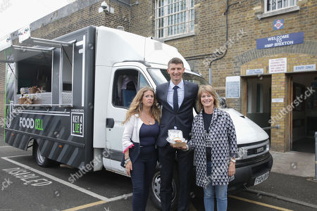 Chelsea football legend Tore Andre Flo, Eva Hamilton and Lolly Taylor who donated the van, is backing a social justice campaign to give ex-offenders jobs while supporting an initiative honouring a young Blues fan. Flo, the former striker,  officially opened Jack Winter's Leg Up Legacy, a re-purposed prison van staffed by ex-offenders, in memory of Winter, 19, who died of cancer last year. (2018) outside Brixton Prison.  Working with Key4Life, an award-winning social justice charity, and in association with the charity's Key4Life YOUNITED social justice campaign - the newly transformed burger van will  provide employment opportunities to ex-offenders.