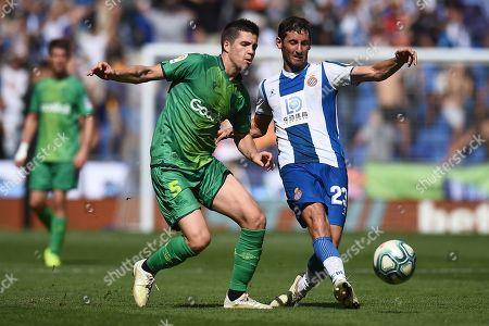 Esteban Granero of RCD Espanyol  and Igor Zubeldia of Real Sociedad