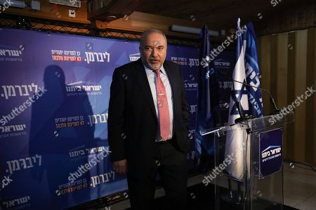 Yisrael Beitenu political party leader and former Israeli defense Minister Avigdor Lieberman speaks during his party faction meeting in Neve Ilan near Jerusalem, Israel, 22 September 2019. The Israel political scene remains marred by uncertainty after the 17 September election in which the Blue and White alliance led by Benny won 33 seats, outdoing the right-wing party of Likud presided by the current acting premier Benjamin Netanyahu, who had to settle for 31 seats. Lieberman's party will have a key role in forming the government coalition, as its eight seats could shift the balance towards Gantz or Netanyahu.
