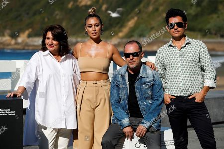 Spanish director Carlos Sedes (2-R) and Spanish actors Blanca Suarez (2-L), Pablo Molinero (R) and Adelfa Calvo (L) pose for the media during the presentation of the film 'El verano que vivimos' (lit. The summer we live) at the 67th edition of the San Sebastian International Film Festival held in San Sebastian, Spain, 22 September 2019. The festival runs from 20 to 28 September.