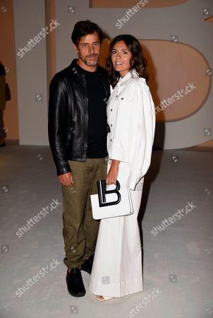 Stock Picture of Davide Devenuto and Serena Rossi in the front row