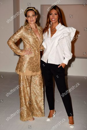 Laura Chiatti and Lavinia Biagiotti in the front row