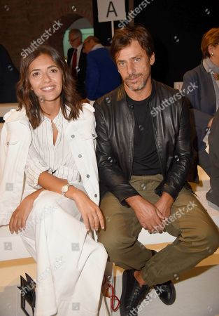 Stock Photo of Davide Devenuto and Serena Rossi in the front row