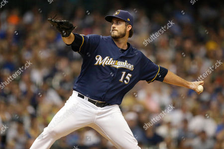 Milwaukee Brewers' Drew Pomeranz pitches during the seventh inning of a baseball game against the Pittsburgh Pirates, in Milwaukee