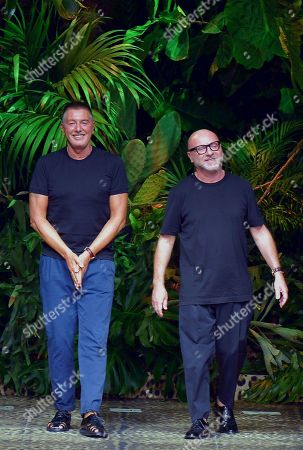 Stock Photo of Domenico Dolce and Stefano Gabbana on the catwalk