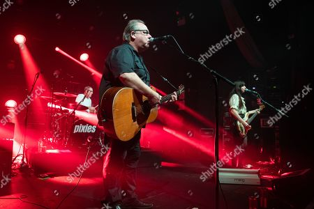 Stock Picture of The Pixies - Black Francis, David Lovering,and Paz Lenchantin
