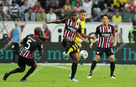 Almamy Toure, Thorgan Hazard /   /    /       / Sport / Football / DFL Bundesliga  /  2019/2020 / 21.09.2019 / Bayer Leverkusen vs. 1.FC Union Berlin FCU / DFL regulations prohibit any use of photographs as image sequences and/or quasi-video. /