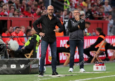 Stock Photo of Trainer Peter Bosz, Trainer Urs Fischer    / Sport / Football / DFL Bundesliga  /  2019/2020 / 21.09.2019 / Bayer Leverkusen vs. 1.FC Union Berlin FCU / DFL regulations prohibit any use of photographs as image sequences and/or quasi-video. /