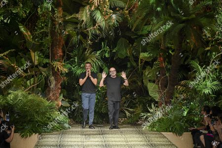 Stock Image of Domenico Dolce and Stefano Gabbana on the catwalk