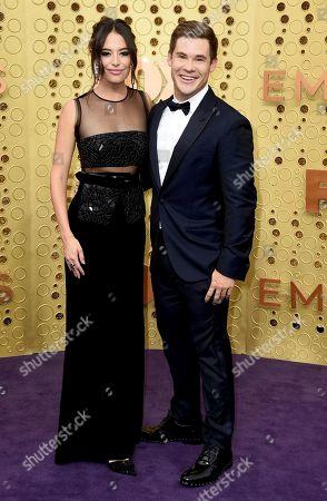 Chloe Bridges, Adam Devine. Chloe Bridges, left, and Adam Devine arrive at the 71st Primetime Emmy Awards, at the Microsoft Theater in Los Angeles