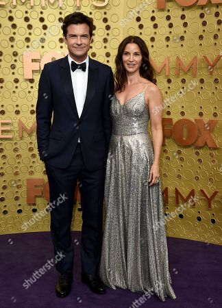 Jason Bateman, Amanda Anka. Jason Bateman, left, and Amanda Anka arrive at the 71st Primetime Emmy Awards, at the Microsoft Theater in Los Angeles