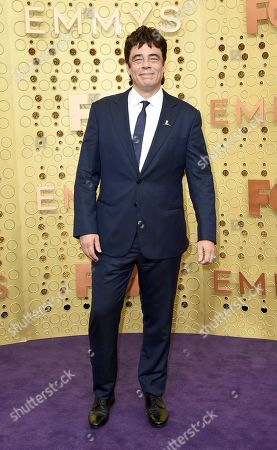 Stock Photo of Benicio Del Toro arrives at the 71st Primetime Emmy Awards, at the Microsoft Theater in Los Angeles