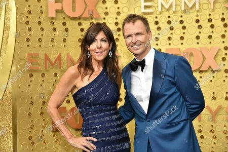 Louise Keoghan, Phil Keoghan. Louise Keoghan, left, and Phil Keoghan arrive at the 71st Primetime Emmy Awards, at the Microsoft Theater in Los Angeles