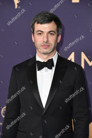 Stock Photo of Nathan Fielder arrives at the 71st Primetime Emmy Awards, at the Microsoft Theater in Los Angeles