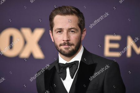Michael Angarano arrives at the 71st Primetime Emmy Awards, at the Microsoft Theater in Los Angeles
