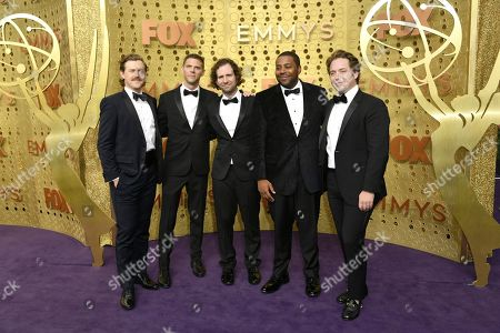 Alex Moffat, Mikey Day, Kyle Mooney, Kenan Thompson, Beck Bennett. Alex Moffat, from left, Mikey Day, Kyle Mooney, Kenan Thompson, and Beck Bennett arrive at the 71st Primetime Emmy Awards, at the Microsoft Theater in Los Angeles