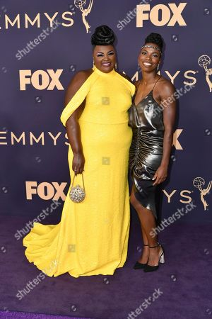 Nicole Byer, Sasheer Zamata. Nicole Byer, left, and Sasheer Zamata arrive at the 71st Primetime Emmy Awards, at the Microsoft Theater in Los Angeles