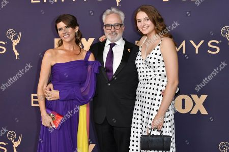 Bradley Whitford, Amy Landecker, Mary Louisa Whitford. Amy Landecker, from left, Bradley Whitford, and Mary Louisa Whitford arrive at the 71st Primetime Emmy Awards, at the Microsoft Theater in Los Angeles