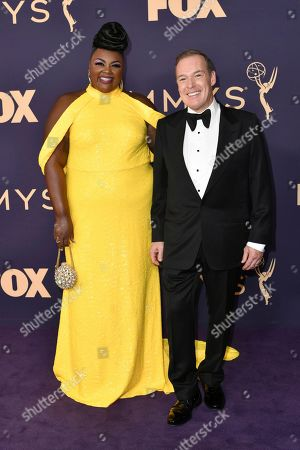Nicole Byer, Jacques Torres. Nicole Byer, left, and Jacques Torres arrive at the 71st Primetime Emmy Awards, at the Microsoft Theater in Los Angeles