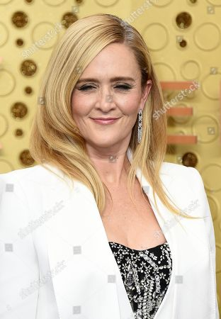 Samantha Bee arrives at the 71st Primetime Emmy Awards, at the Microsoft Theater in Los Angeles