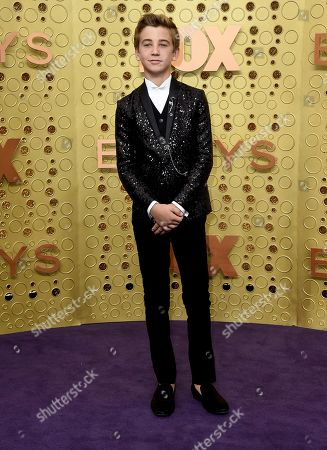 Parker Bates arrives at the 71st Primetime Emmy Awards, at the Microsoft Theater in Los Angeles