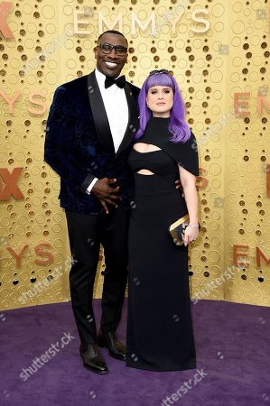 Shannon Sharpe, Kelly Osbourne. Shannon Sharpe, left, and Kelly Osbourne arrive at the 71st Primetime Emmy Awards, at the Microsoft Theater in Los Angeles