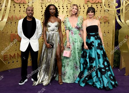 Chris Redd, Ego Nwodim, Heidi Gardner, Melissa Villasenor. Chris Redd, from left, Ego Nwodim, Heidi Gardner and Melissa Villasenor arrive at the 71st Primetime Emmy Awards, at the Microsoft Theater in Los Angeles