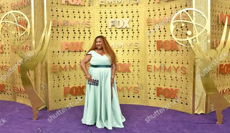 Ashley Nicole Black arrives at the 71st Primetime Emmy Awards, at the Microsoft Theater in Los Angeles