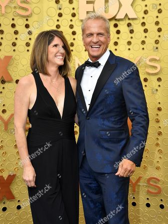 Patrick Fabian, Mandy Fabian. Mandy Fabian, left, and Patrick Fabian arrive at the 71st Primetime Emmy Awards, at the Microsoft Theater in Los Angeles