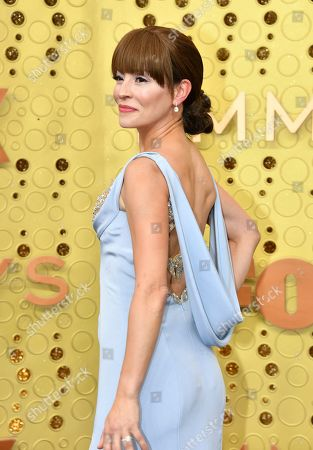 Emmanuelle Vaugier arrives at the 71st Primetime Emmy Awards, at the Microsoft Theater in Los Angeles
