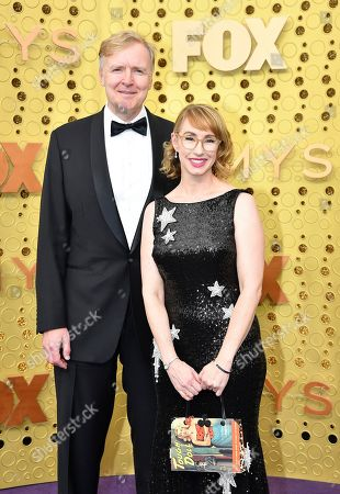 Stock Photo of Kira Snyder, Allen Blue. Allen Blue, left, and Kira Snyder arrive at the 71st Primetime Emmy Awards, at the Microsoft Theater in Los Angeles