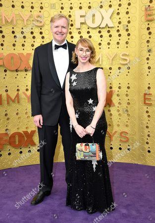 Kira Snyder, Allen Blue. Allen Blue, left, and Kira Snyder arrive at the 71st Primetime Emmy Awards, at the Microsoft Theater in Los Angeles